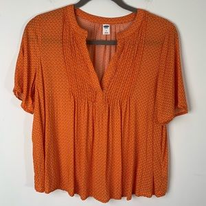 4/25 SALE Old Navy Orange Short Sleeves Blouse M